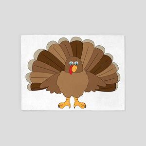 Thanksgiving Turkey 5'x7'Area Rug