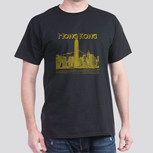 HongKong_10x10_v1_Skyline_Central_Yel Dark T-Shirt