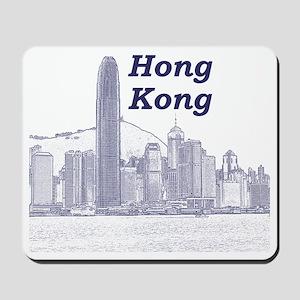 HongKong_10x10_v4_Skyline_Central Mousepad