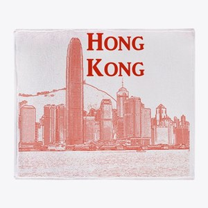 HongKong_10x10_v3_Skyline_Central Throw Blanket