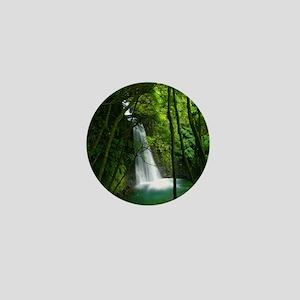 Waterfall in Azores Mini Button