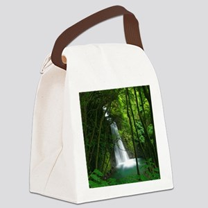 Waterfall in Azores Canvas Lunch Bag