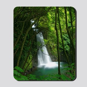 Waterfall in Azores Mousepad