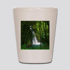 Waterfall in Azores Shot Glass