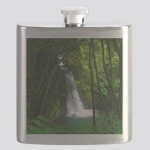 Waterfall in Azores Flask