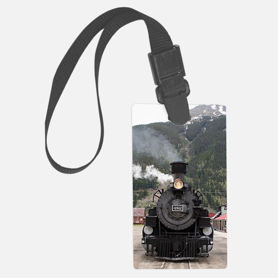 Steam train engine Colorado, USA Luggage Tag