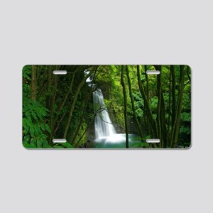 Waterfall in Azores Aluminum License Plate