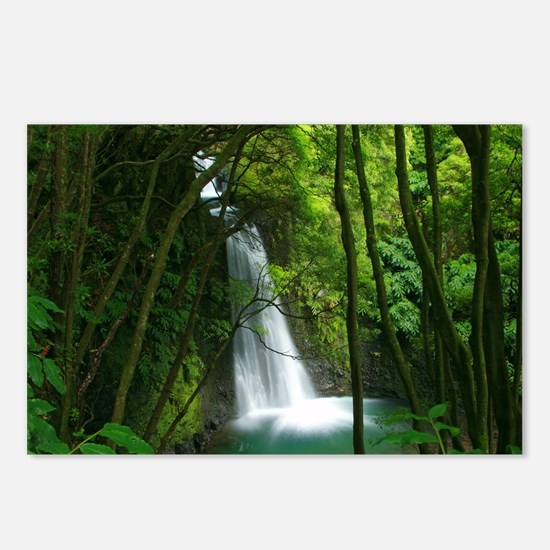 Waterfall in Azores Postcards (Package of 8)