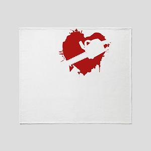 LoveKilllZombiesChain1B Throw Blanket