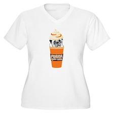 PUGKIN Spice Latte Plus Size T-Shirt