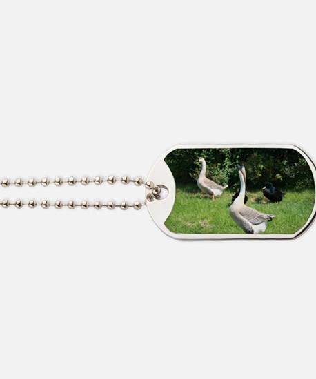 TWO GEESE Dog Tags