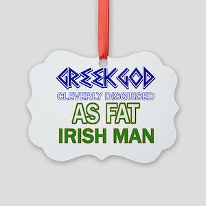 Funny irish designs Picture Ornament