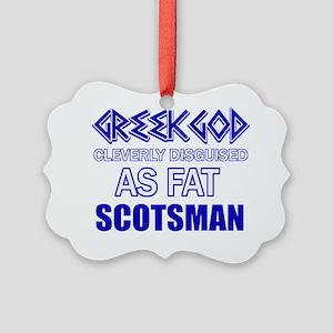 Funny Scottish designs Picture Ornament