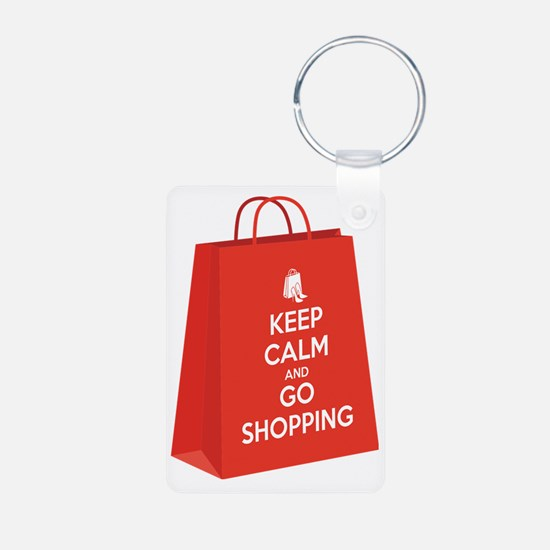 Keep calm and go shopping  Keychains