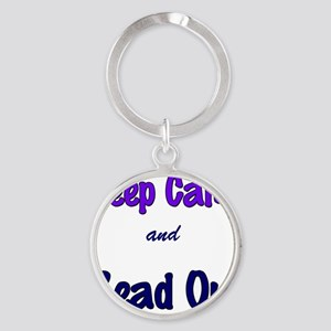 Keep Calm and Read On. Round Keychain