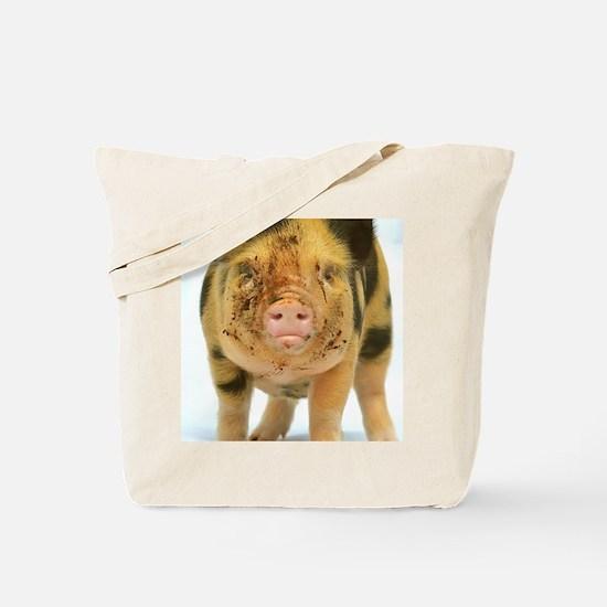 Messy micro pig Tote Bag
