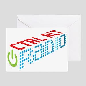 Ctrl Alt Radio Main Logo Greeting Card