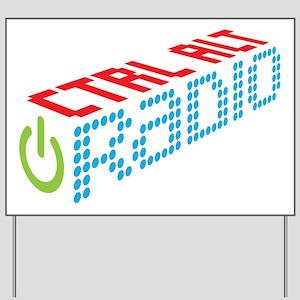 Ctrl Alt Radio Main Logo Yard Sign