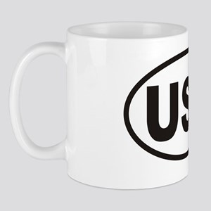 USA Oval Sticker Mug