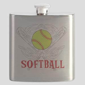 Softball Tribal Flask