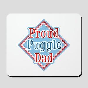 Proud puggle Dad Mousepad