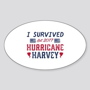 I Survived Hurricane Harvey Sticker (Oval)