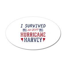 I Survived Hurricane Harvey 22x14 Oval Wall Peel
