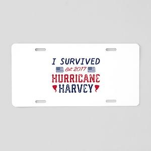 I Survived Hurricane Harvey Aluminum License Plate