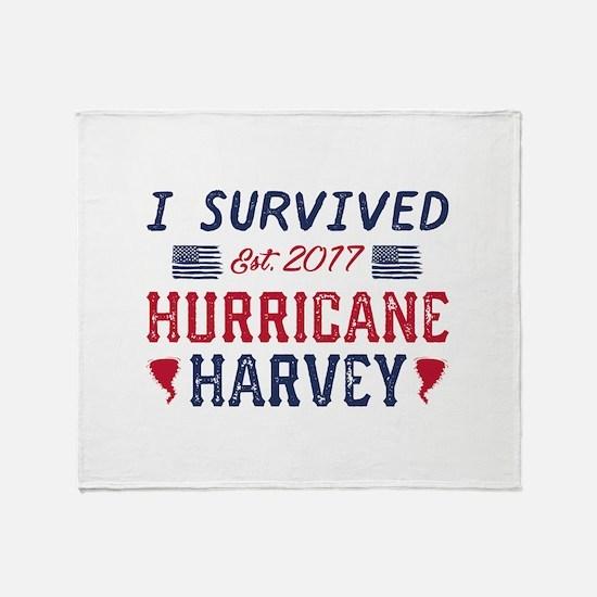 I Survived Hurricane Harvey Stadium Blanket