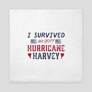 I Survived Hurricane Harvey Queen Duvet
