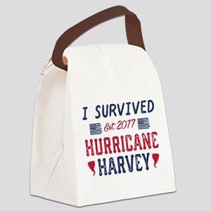 I Survived Hurricane Harvey Canvas Lunch Bag