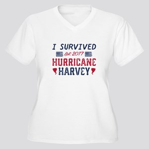 I Survived Hurricane Harvey Women's Plus Size V-Ne