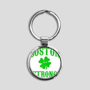 Boston Strong Round Keychain