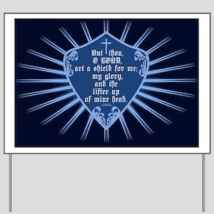 Psalm 3:3 Shield Yard Sign