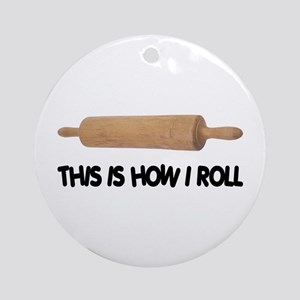 How I Roll Baking Ornament (Round)