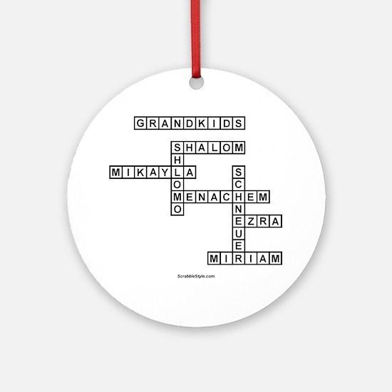 SOUTLAW SCRABBLE-STYLE Round Ornament