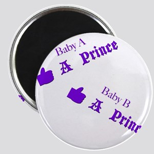 Baby A Prince Baby B Prince Twins Maternity Magnet