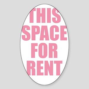 Space for Rentt Sticker (Oval)