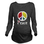 Flowing Peace Colour Long Sleeve Maternity T-Shirt