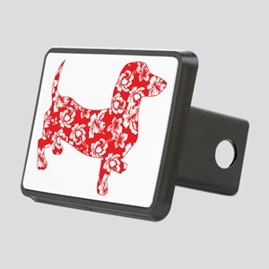 Aloha Doxie in Red Rectangular Hitch Cover