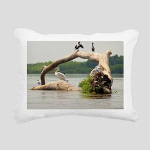 Pelican tree Rectangular Canvas Pillow