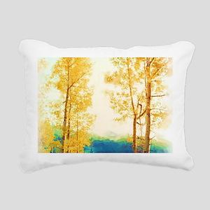 Faded Aspens Rectangular Canvas Pillow