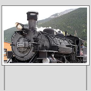 Steam train engine, Silverton, Colorado, Yard Sign