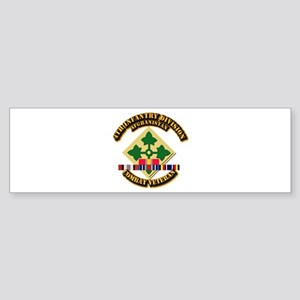 Army - 4th ID w Afghan Svc Sticker (Bumper)