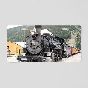 Steam train engine Silverto Aluminum License Plate