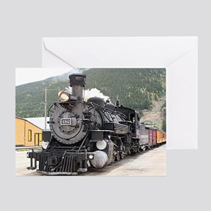 Steam train engine Silverton, Colora Greeting Card