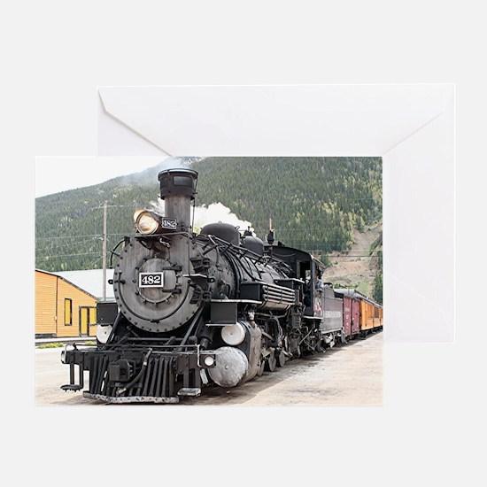 Steam train engine Silverton, Colora Greeting Card