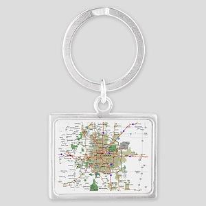 Denver Map Landscape Keychain