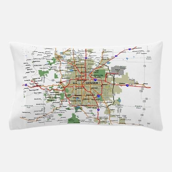 Denver Map Pillow Case