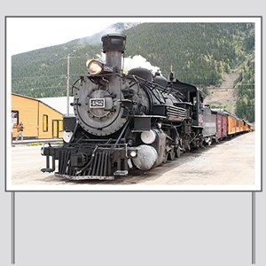Steam train engine Silverton, Colorado,  Yard Sign